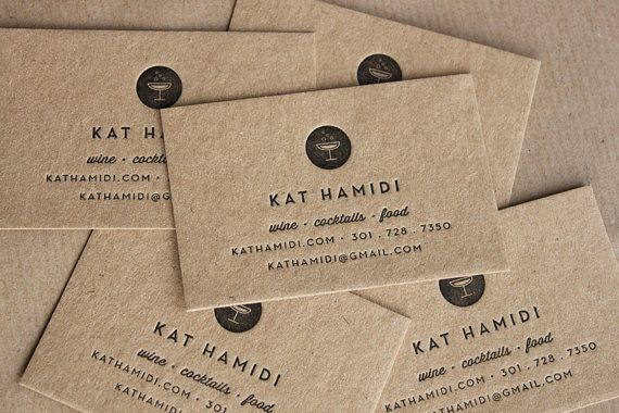in name card giấy kraft