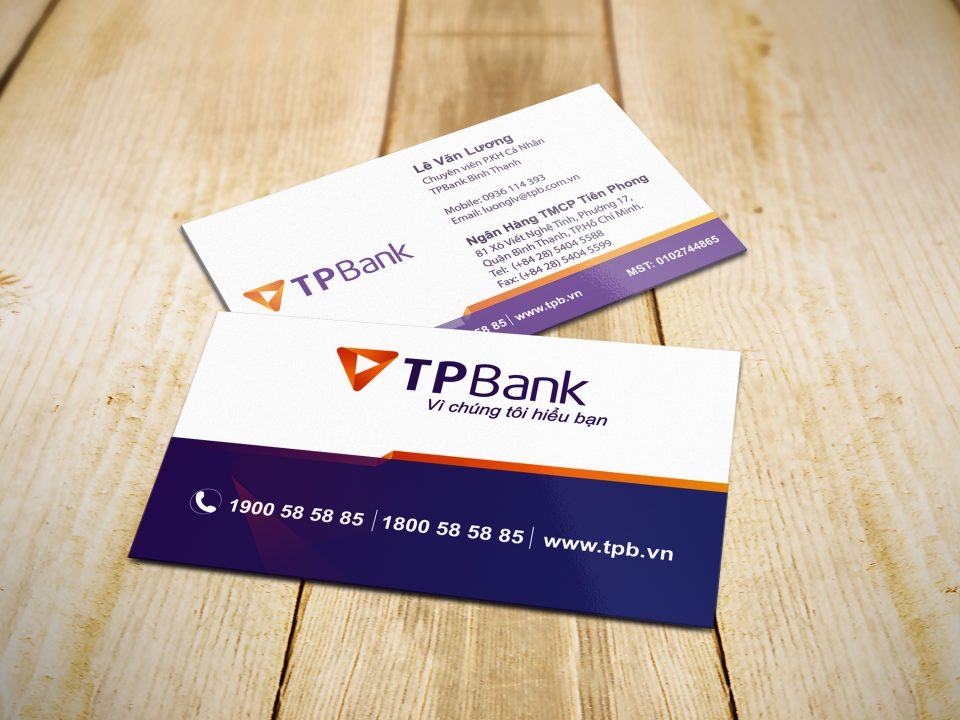 Mockup Namecard TP Bank